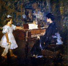 "William Merritt Chase (1849-1916), The Music Lesson (ou "" An Interlude"") - 1906"