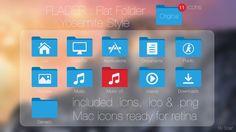Flader : Flat folder Yosemite Style by scafer31000