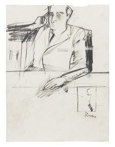 Portrait of a man by Larry Rivers
