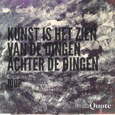 Quote van Joop op de achtergrond een zwart wit olieverf schilderij met de zee, het bewust en onbewust zijn