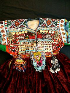 Afghan Dress Kuchi Dress Tribal Dress Banjara by RareFindingsUS