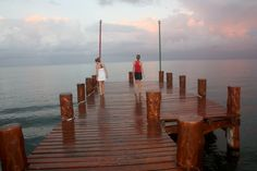 Morning dock views at Occidental Grand, Cozumel