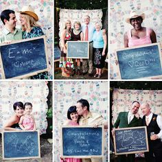 what a cute idea for a wedding instead of the photobooths