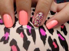 Peachy leopard spots-- Kelsie's Nail Files