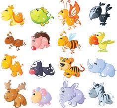 Imágenes de animales bebes para baby shower | Manualidades para Baby Shower