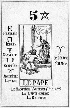 Papus - Gabriel Goulinat       Il Papa       Da Le Tarot Divinatoire       Parigi, 1909