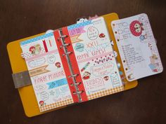 yellow personal planner