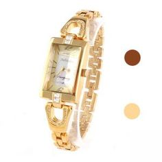 Damen Legierung Armbanduhr mit Diamanten