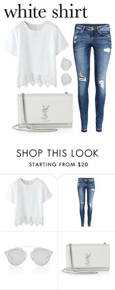 """""""Untitled #287"""" by sophiatsunis ❤ liked on Polyvore featuring H&M, Christian Dior, Yves Saint Laurent and WardrobeStaples"""