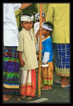 Young boy at ceremony in Ubud, Bali