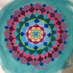 Mandala on canvas by Mar Tattoo