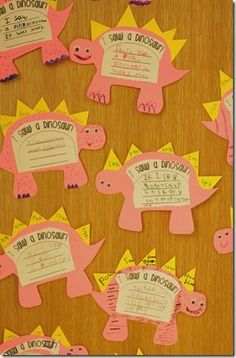 Cute writing activity about  dinosaurs and fossil activity! A must do for next year! ALSO, a wonderful teacher blog!