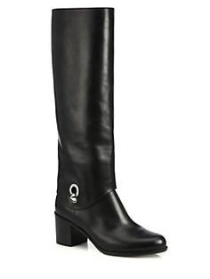 6a4ebb334c Fendi - Fold-Over Leather Knee Boots  1800 All About Shoes