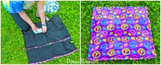 DIY Dog Summer Cool-Off Pad Tutorial Add Ice Packs/ love this DIY but not the ad for purina. Dress Tutorials, Sewing Tutorials, Sewing Crafts, Dog Cooling Mat, Dog Clothes Patterns, Summer Dog, Pet Clothes, Dog Clothing, Dog Harness