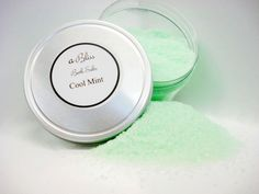 Cool Mint Bath Salts- All natural bath products handcrafted at Abilis. All profits support people with disabilities.