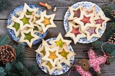 Biscuit translucide en étoile