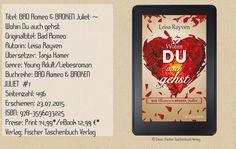 """""""Bad Romeo & Broken Juliet - Wohin Du auch gehst"""" von Leisa Rayven ist ein mitreißender New Adult Roman mit Fanfiction Elementen. Ein wunderbares Buch zum Abtauchen und Mitfühlen! ~ lebendig ~ mitreißend ~ authentisch ~ gefühlvoll ~"""