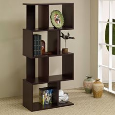 This one does not take much space - it doesn't cut into the living room    Minimalist Unique Bookcase Room Divider Ideas Home Design Gallery