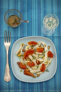 Fennel and blood orange salad with toasted pistachios