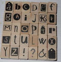 New Set of Ransom Note Alphabet Stamps by EnduringInterest on Etsy, $5.99