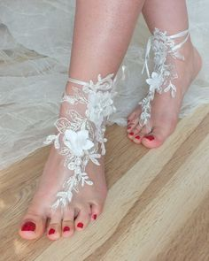 SANDALS // beach shoes,bridal sandals, lariat sandals, wedding bridal, bellydance, gothic, wedding shoes, summer wear, handmade on Etsy, £21.40