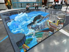 """Ventura, California-based 3D chalk artist Tracy Lee Stum is well-known for her brilliant ongoing series of """"interactive 3D chalk art street paintings."""" She began street painting in 1998 and is still, to this day, going strong."""