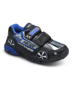 Look at this Black & Silver Vroomz Police Car Light-Up Sneaker on #zulily today!