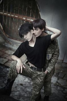"""dantelian: """" Wolfot as Eren Yeager Me (Dantelian) as Levi Ackerman —————————————— Happy Valentine's day >:D """" - COSPLAY IS BAEEE!!! Tap the pin now to grab yourself some BAE Cosplay leggings and shirts! From super hero fitness leggings, super hero fitness shirts, and so much more that wil make you say YASSS!!!"""