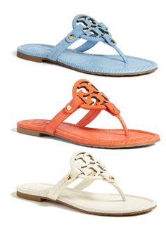 Carolina Blue 'Miller' Tory Burch Sandals...I'm dying right now!