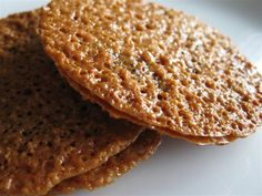 These nut-free non-gebrokts Passover lace cookies include ground coconut, potato starch, sugar, margarine, and lemon juice or vanilla extract. Cookie Desserts, Just Desserts, Cookie Recipes, Dessert Recipes, Lace Cookies Recipe, Biscuits, Galletas Cookies, Kosher Recipes, Breads