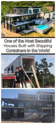 Melissa and Tony own Emerie Custom Homes in Lago Vista, Texas. Cargo Container Homes, Shipping Container Home Designs, Shipping Container House Plans, Building A Container Home, Container Cabin, Container Buildings, Container Architecture, Shipping Containers, Sustainable Architecture
