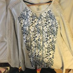 sweater aztec pullover/sweater with lace on sleeves dangtrip Sweaters Crew & Scoop Necks
