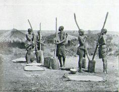 Gikuyu women Pounding Grain