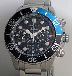 Seiko Solar Chronograph Diver – SSC017P. Seiko SolarOrient WatchSeiko Diver Mens ... a4b455fd3c