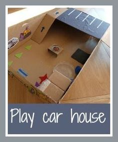Play car house from a box