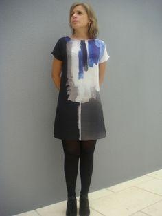 Une petite robe toute simple, réalisée à partir d'un patron maison, pour un magnifique tissu de chez Bennytex #Bennytex