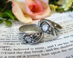 Wedding rings I made for my daughter's wedding with Precious Metal Clay
