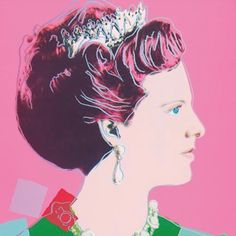 Queen Margrethe II of Denmark by Andy Warhol 1982