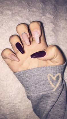 25 Most Impressive Ombre Black Long Acrylic Coffin Nails : Create Your Best Impression Today to get a perfect nail design, proper guideline is important. and visiting our side you get the importand guideline according your your favorite nail design. Aycrlic Nails, Coffin Nails, Cute Nails, Pretty Nails, Hair And Nails, Fantastic Nails, Casket Nails, Pink Acrylic Nails, Acrylic Nails For Fall