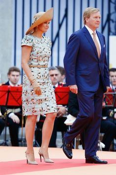 MYROYALSHOLLYWOOD FASHİON:  Celebration of 200 Years of the Kingdom of The Netherlands, August 30, 2014-Queen Maxima and King Willem-Alexander