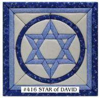 Star+of+David+Quilt+Pattern | 416 - STAR OF DAVID