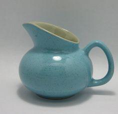 Vintage Blue Speckled Porcelain Pitcher Vase @QuietRainz $9.75 #looksgoodonya