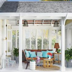 Cute coastal outdoor space perfect for entertaining and enjoying th sun