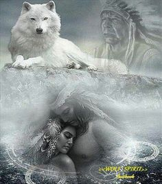 Native American Wolf Spirit Dream ..*
