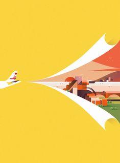Les illustrations minimalistes et lumineuses de Ray Oranges