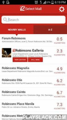 Robinsons Malls  Android App - playslack.com ,  This is the official mobile app of Robinsons Malls!Your appmazing guide can now be downloaded on your smart phone!Everything you need to know about Robinsons Malls is now at your fingertips— store directory, events and promos, Robinsons Privilege Card discounts and benefits, Lingkod Pinoy directory, movie schedules and mall directions and operating hours.You can also purchase your movie tickets and select your seats, remember where you parked…