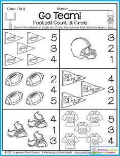 Fall count to 5 worksheet.