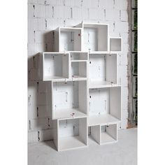 Assemblage White Lacquered Modular Shelf design by Seletti ($945) ❤ liked on Polyvore featuring home, furniture, storage & shelves, shelving, white furniture, shelves furniture, mdf shelving, seletti и white shelf