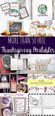 Free Thanksgiving Printables Round-up