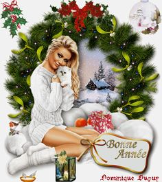Voeux Happy New Year, Photos, Wreaths, Christmas Ornaments, Holiday Decor, Home Decor, Welcome, Moving Pictures, Pictures